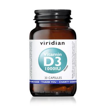 Viridian Vitamin D3 1000iu (25µg) 30s