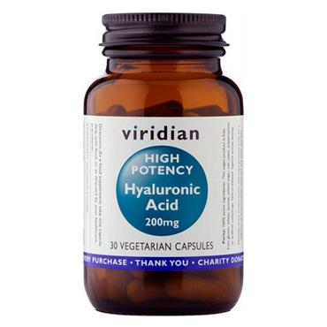 Viridian High Potency Hyaluronic Acid 200mg 30 Capsules