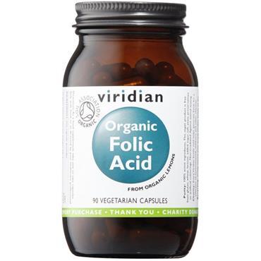Viridian Organic Folic Acid 90 Capsules