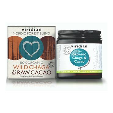 Viridian Wild Chaga & Raw Cacao Drink 30g