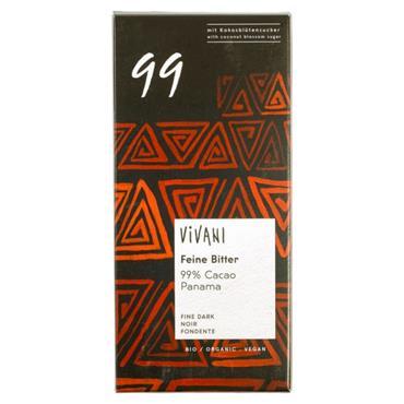 Vivani Organic Dark Chocolate 99% 80g