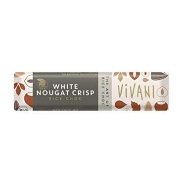 Vivani Organic White Nougat Crisp Bar 35g