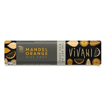 Vivani Organic Almond Orange Vegan bar 35g