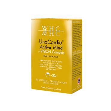 WHC Uno Cardio-Active Mind + Vision Complex 30 softgels
