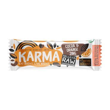 karma Cocoa Orange Raw Bar 40g