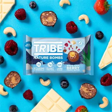 TRIBE NATURE BOMB White Chocolate BERRY Peanut Butter 40g