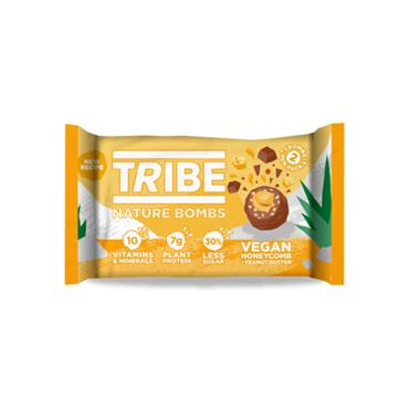 TRIBE NATURE BOMB Vegan Honeycomb and Peanut Butter 40g