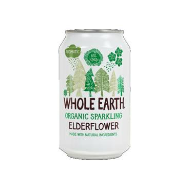Whole Earth Sparkling Organic Elderflower Drink 330ml