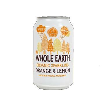 Whole Earth Sparkling Organic Orange & Lemon Drink 330ml