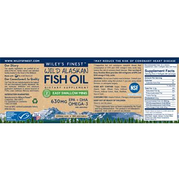 Wiley's Finest Fish Oil Easy Swallow 60s