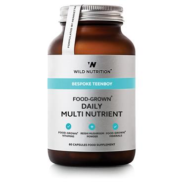 Wild Nutrition Food-Grown Daily Multi Nutrient Teenboy 60 capsules