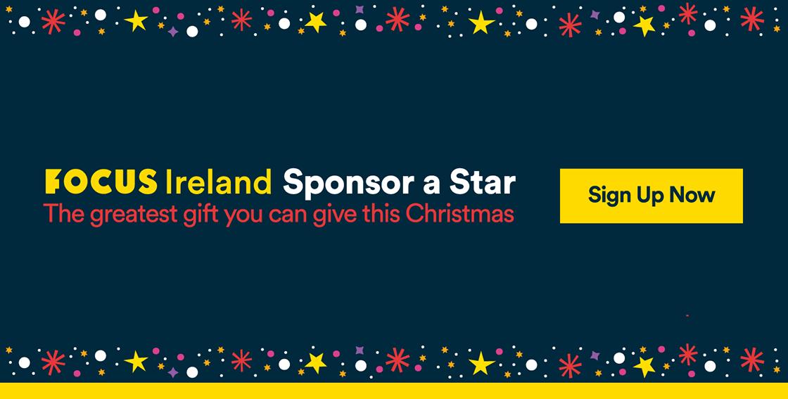 Foucs Ireland Sponsor A Star Graphic