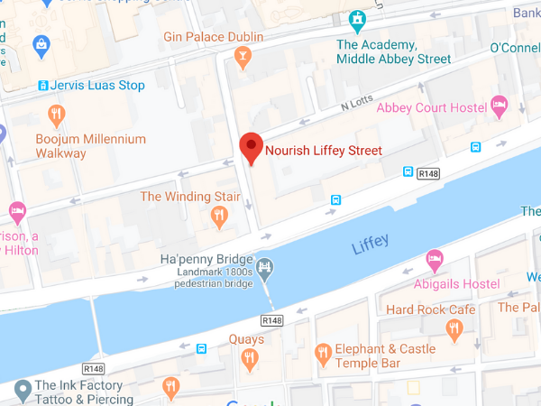 Nourish Liffey Street location map