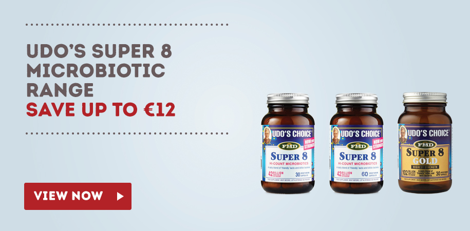 Udo's Choice Super 8 Microbiotic Special Offer Graphic