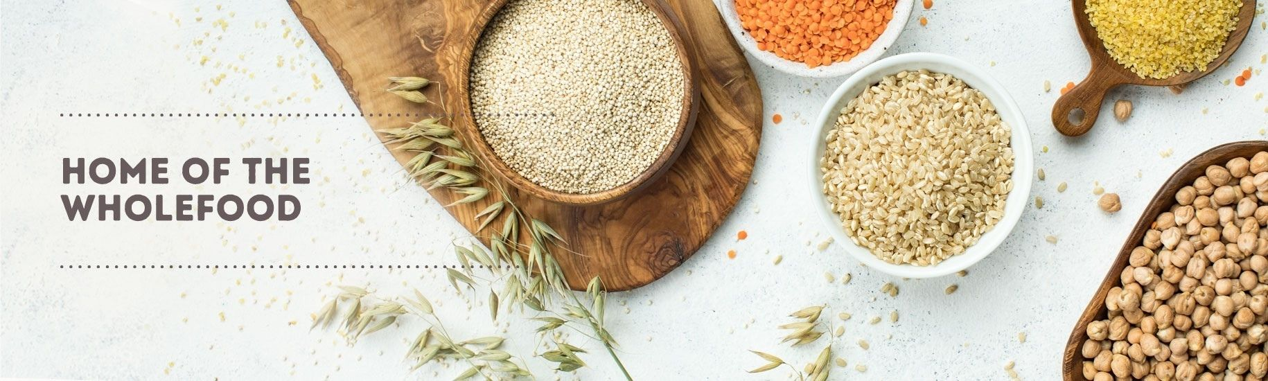 Nourish Pantry Essentials Wholefoods Banner