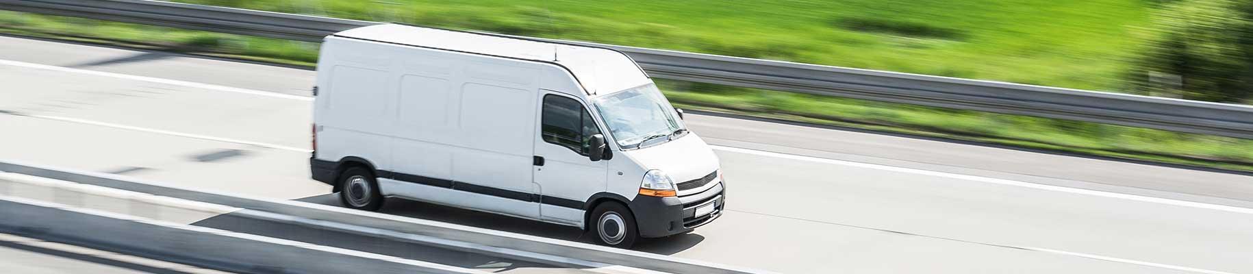 Delivery van on motorway