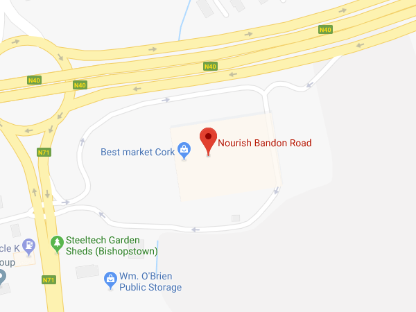 Nourish Bandon Road Cork location map