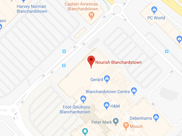 Nourish Blanchardstown Shopping Centre location map