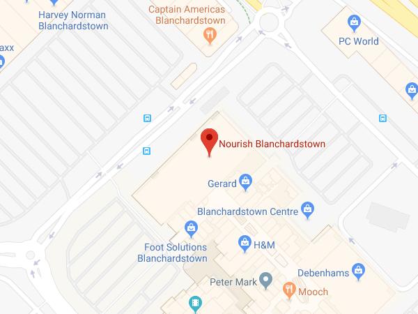Nourish Blanchardstown location map