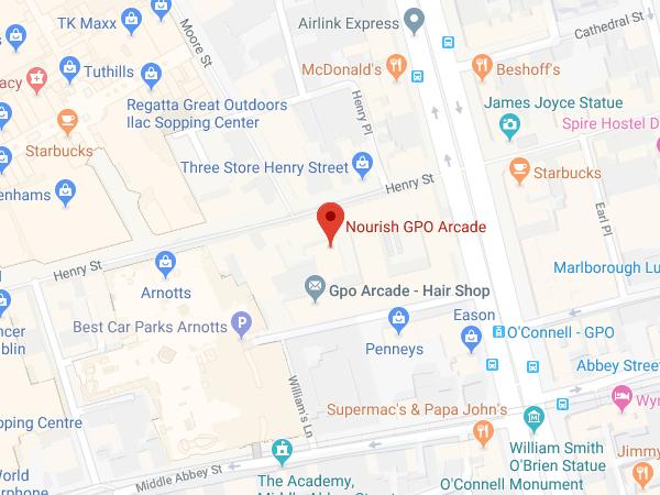 Nourish GPO Arcade location map