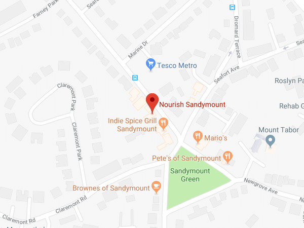Nourish Sandymount location map