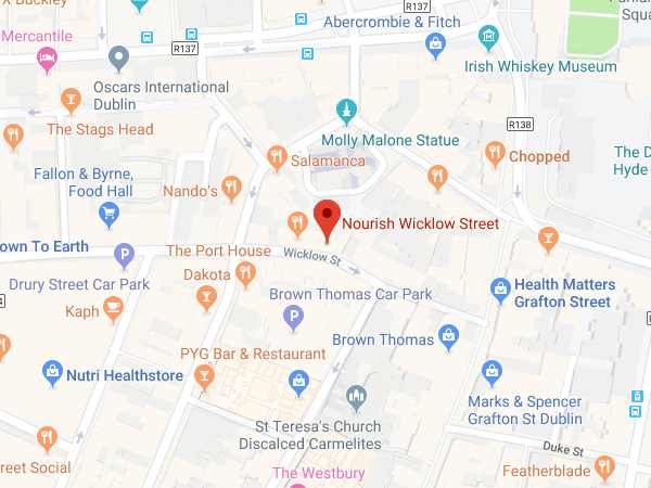 Nourish Wicklow Street location map