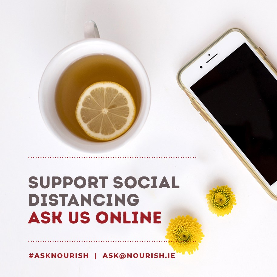 Ask us online graphic