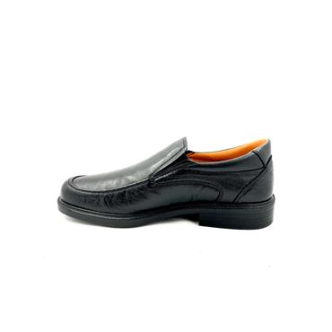 LUISETTI GTS LEATHER MOCC SLIP ON SHOE - BLACK