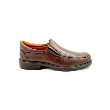 LUISETTI GTS LEATHER MOCC SLIP ON SHOE - MARRON
