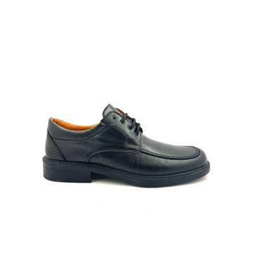 LUISETTI MENS COMFORT STITCH LACE SHOE - BLACK