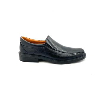 LUISETTI MENS COM STITCH SLIP ON SHOE - BLACK