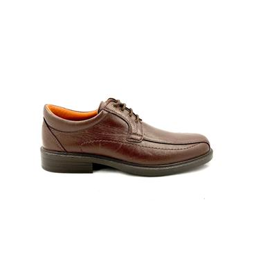 LUISETTI GTS LEATHER STITCH TIE SHOE - MARRON