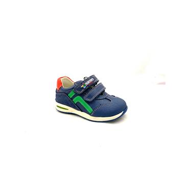 PABLOSKY BOYS 2 VEL STRAP RUNNER - BLUE WHITE