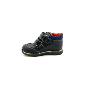 PABLOSKY BOYS 2 VELCRO STRAP ANKLE BOOT - NAVY BLUE