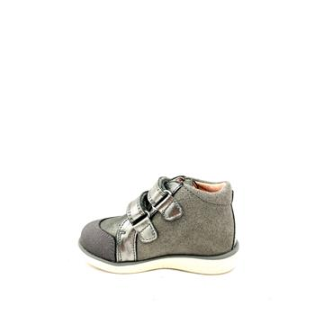 PABLOSKY GIRLS 2 VEL STRAP ANKLE BOOT - GREY SILVER