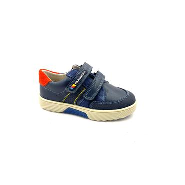 PABLOSKY BOYS 2 STRAP VEL SHOE - NAVY RED