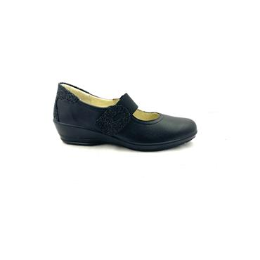 ALPINA WOMENS H FIT VELCRO STRAP SHOE - BLACK
