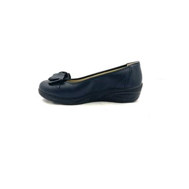 ALPINA LDS H FIT FLOWER LOW WEDGE SHOE - NAVY