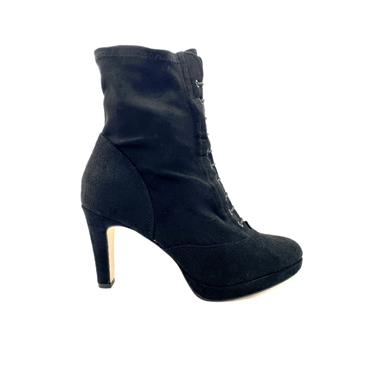 TAMARIS LDS P/FORM CORD ZIP ANKLE BOOT - BLACK SUEDE