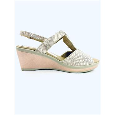 PITILLOS WEDGE TSTRAP S/BACK P/TOE - NUDE