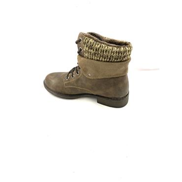 IDENTITY WOMENS LACE ANKLE BOOT - BROWN