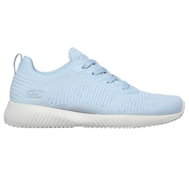 SKECHERS WOMENS WASHABLE LACE TRAINER - LIGHT BLUE
