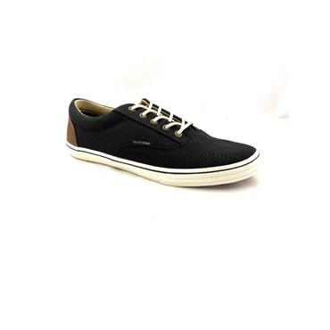 JACK & JONES MENS CANVAS LACE SHOE - BLACK