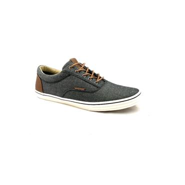 JACK & JONES MENS CANVAS LACE SHOE - ANTHRACITE