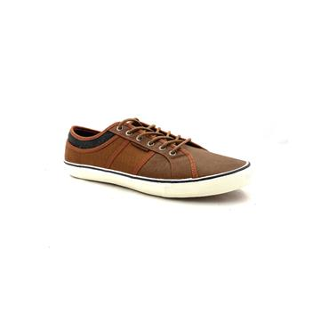 JACK & JONES MENS CASUAL LACE SHOE - BROWN BLACK