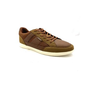 JACK & JONES MENS CASUAL LACE SHOE - TAN BROWN