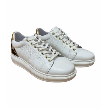 OLIVER FUREY WOMENS CHUNKY LACE TRAINER - WHITE LEATHER