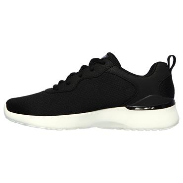 SKECHERS WOMENS AIR MEMORY LACE TRAINER - BLACK WHITE