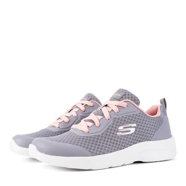 SKECHERS WOMENS WASHABLE LACE TRAINER - GREY CORAL