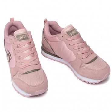 SKECHERS WOMENS AIR COOLED LACE TRAINER - MAUVE